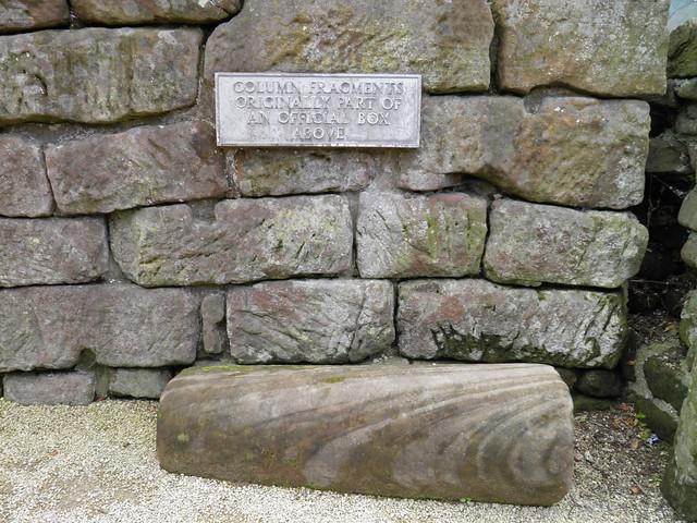 Column fragment part of an official box, Deva Victrix (Chester, UK)