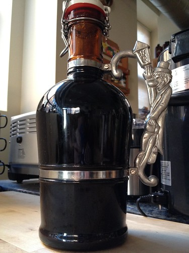 Homebrew in a growler.