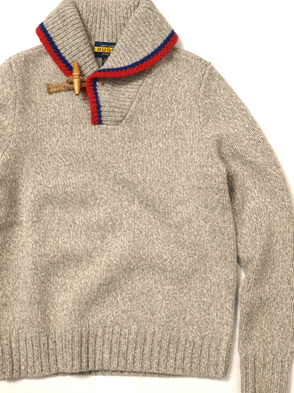 Rugby / Toggle Shawl Sweater