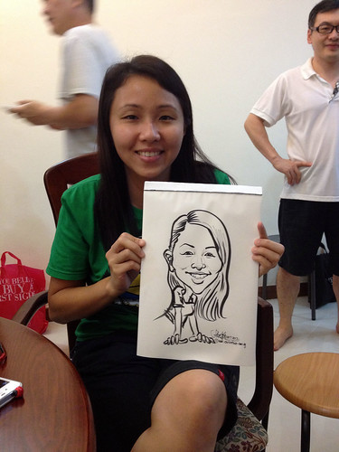caricature live sketching for birthday party 14072012 - 7
