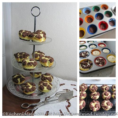 Collage Russische Zupfkuchen-Muffins