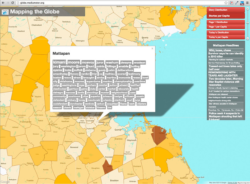 Mattapan - Mapping the Globe: Screenshots