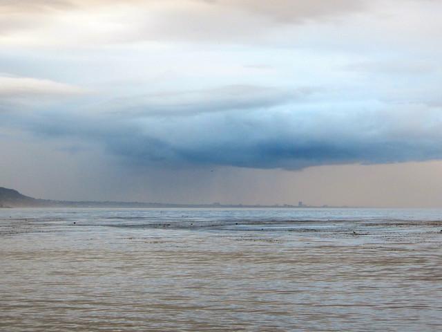 rain over santa monica