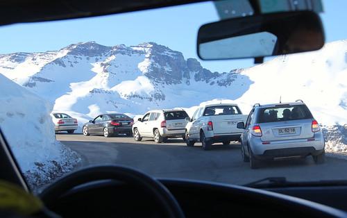 Estrada para o Valle Nevado