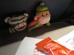 Sock Monkeys on a plane
