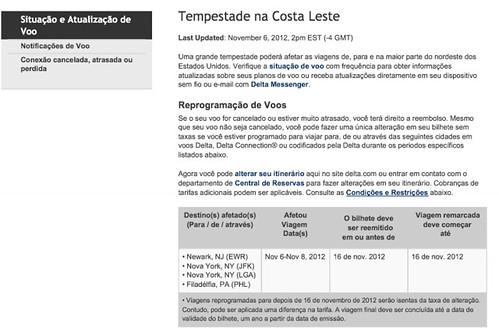 44 horas para voar de NYC a Brasília: os reflexos do furacão Sandy