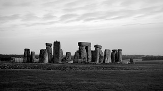 A Lorry Trundles Past Stonehenge
