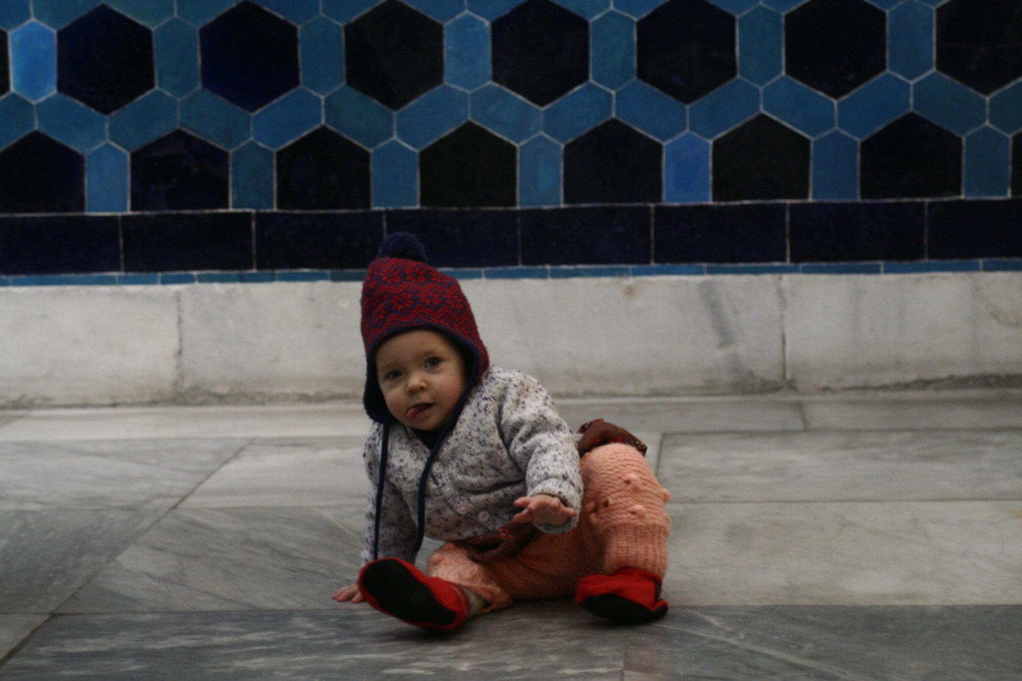 Neve in the Tiled Kiosk