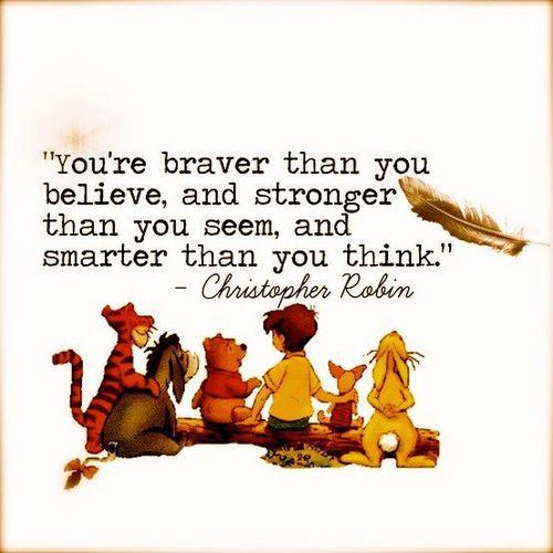 #quotes You're braver than you believe, and stronger than... by CelebrateQuotes