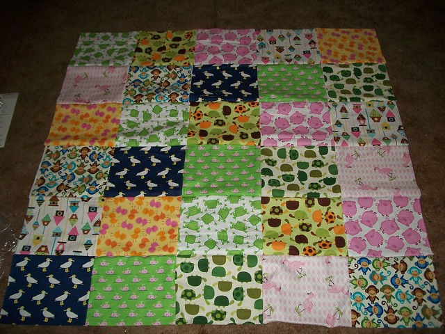 Animal Quilt Top