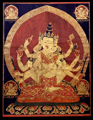 011-17th century Central Tibeten thanka of Guhyasamaja Akshobhyavajra, Rubin Museum of Art-via Wikimedia Commons
