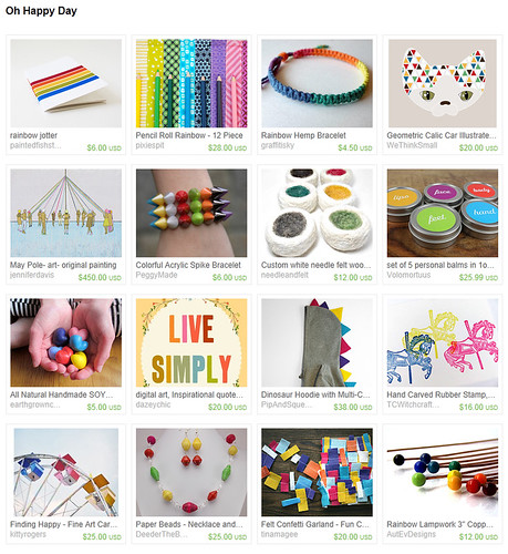 Oh Happy Day - Etsy Treasury