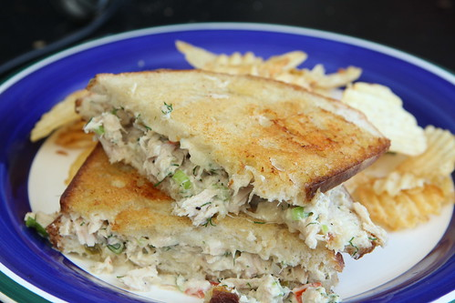 Tuna Melt with Hop Pickles and Gruyere