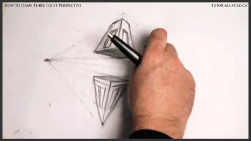 learn how to draw three point perspective 014