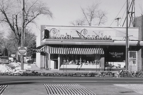 Cupid Candies on West 95th Street.  Evergreen Park Illinois.  Early January 1988. by Eddie from Chicago