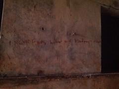 Graffiti in a Torture Chamber