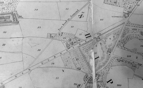 Extract from Oliver's map of Newcastle, 1844