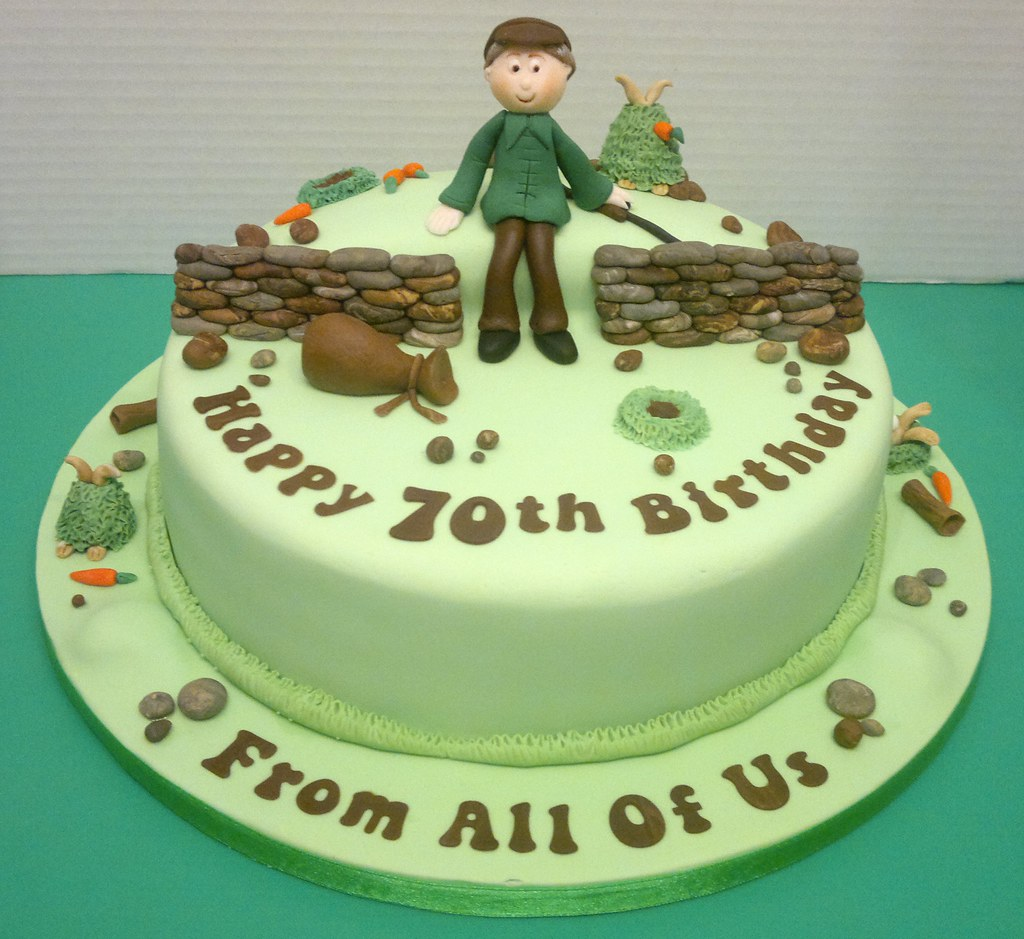 Hunting Theme 70th Birthday Cake