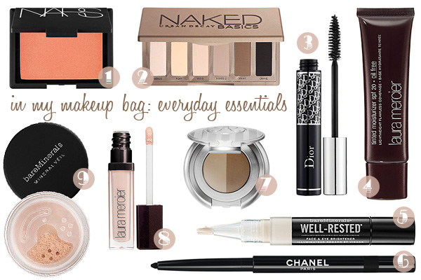 makeup bag everyday essentials