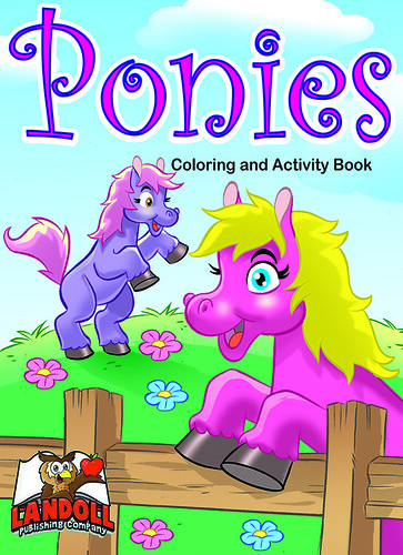 "Landoll Publishing Company :: ""PONIES"" Coloring & Activity Book (( 2013 ))"