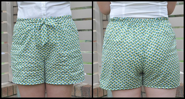 Tie Waist Shorts collage