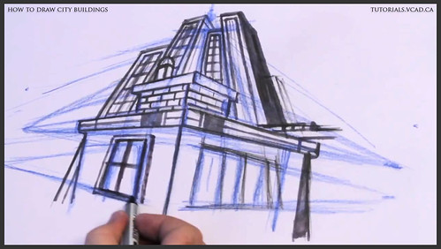 learn how to draw city buildings 029