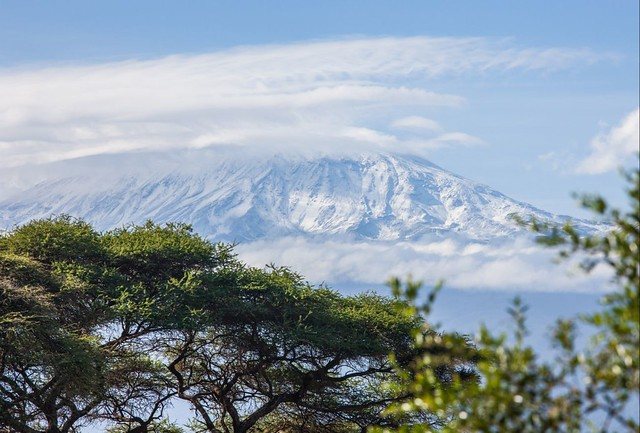 Parque Nacional de Amboseli, Kenia, con vistas al monte Kilimanjaro, en Tanzania