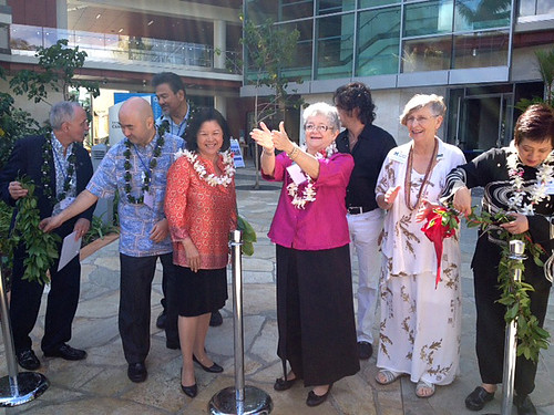 <p>The University of Hawaii Cancer Center is blessed and officially opened.  A dream realized.</p>