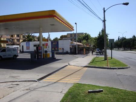 Posto de gasolina em Santiago (Chile)