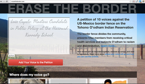 Erase the Border - Voice Petition Site