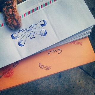 My writing hand hurts. #showandmail #LWA