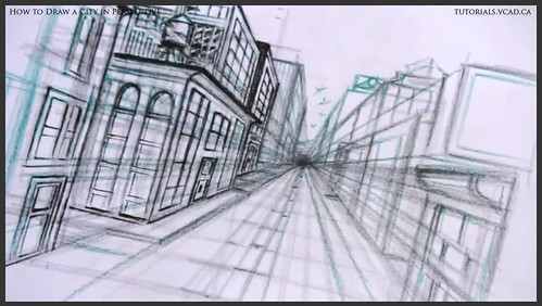 learn how to draw city buildings in perspective 028