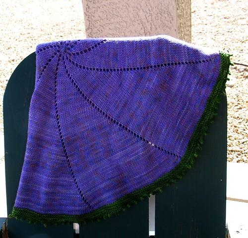 Pansy Pinwheel blanket