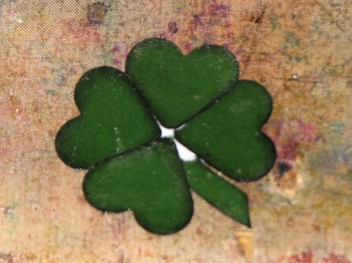 Steampunk Shamrock Pin 005