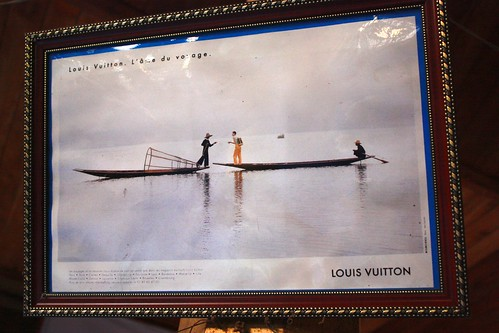 Matching Louis Vuitton ad.
