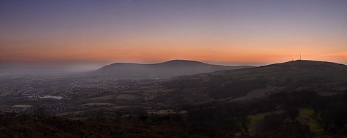 sunset mountain black hill belfast panoramic cave division
