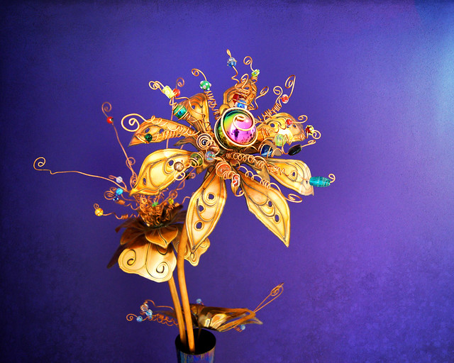 Metal Flower, Sculpture, Colorful, Epic