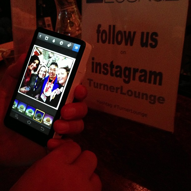 Instagram on Samsung Galaxy camera, Upload via WiFi. See it at @mayhemstudios #turnerlounge #sxsw