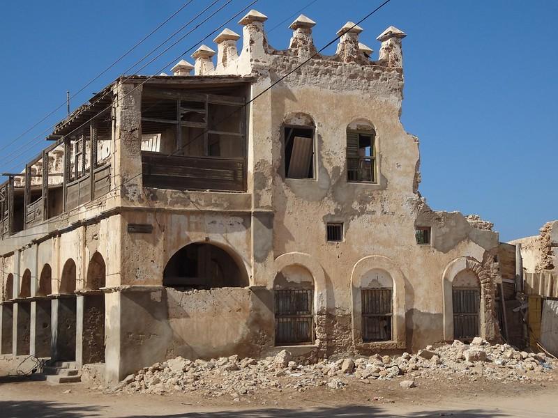 Ccasa destruída em Berbera