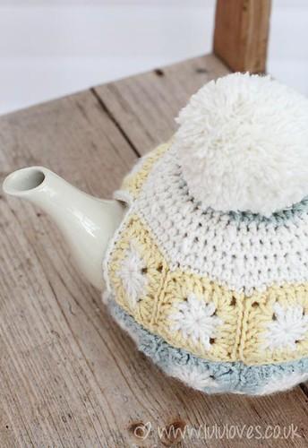 Crochet Granny Square Tea Cosy