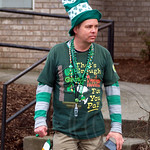 Spectator at the 2013 Bergen County St. Patrick`s Day Parade, Bergenfield, New Jersey