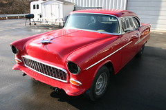 1955 Chevy Bel-Air 2 Door red