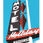Broadway Holiday - Screenprint - Scot Odendahl: On the Roadside, Jeffco Teacher Solo Exhibition