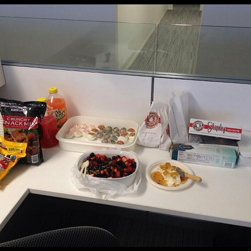 74:365 The fantastic goodies my coworkers brought in for my pre-birthday celebration.