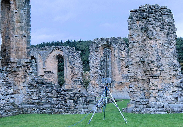 3D Laser scanning at Byland Abbey