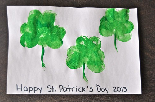 Shamrock Potato Print Art