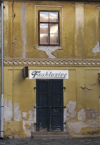 old windows sunset house abandoned yellow shop clouds doors croatia oldcity varazdin daemona flickrdiamond