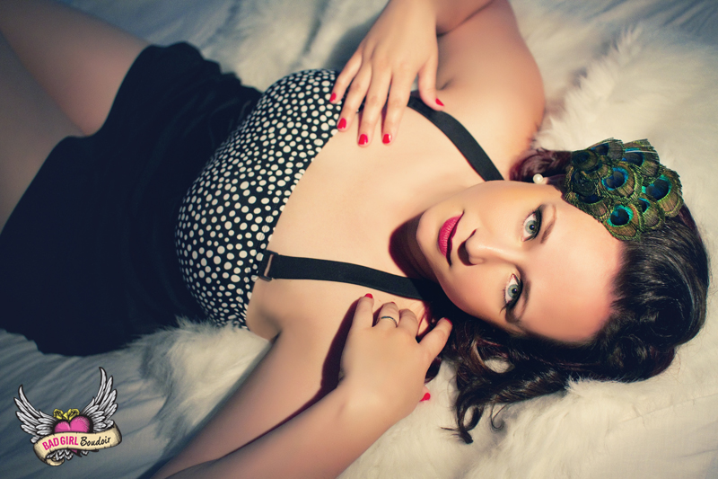 Spotlight Boudoir Lighting Old Hollywood Pinup Girl Photography