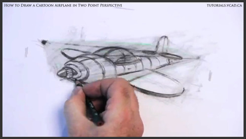 learn how to draw a cartoon airplane in two point perspective 035
