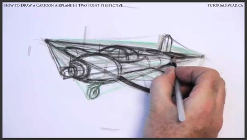 learn how to draw a cartoon airplane in two point perspective 027